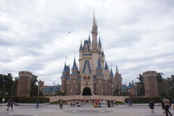 Cinderella Castle of Tokyo Disneyland Japan