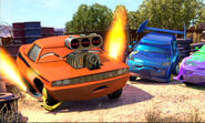 Snot Rod in the junkyard