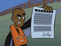 Warrant forgotten yesterday