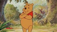 Pooh folds his arms