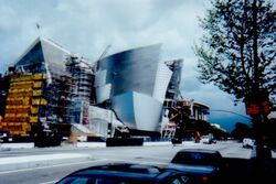 Disney Hall construction