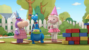 Hallie, stuffy and lambie