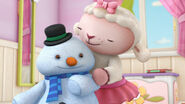 Lambie and chilly hugging