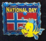 Norway National Flounder Pin