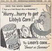 Libby's newspaper ad white rabbit corn 640