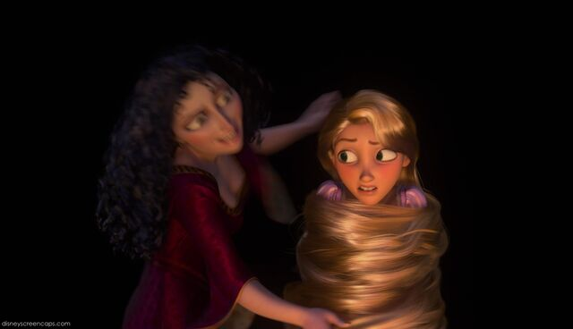 File:Rapunzel rapped up in her own hair.jpg