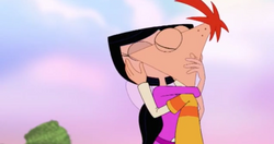 Adult Phineas and Isabella Kiss Again