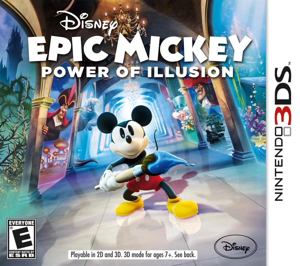 Resultado de imagen para Disney Epic Mickey The Power of Illusion 3DS COVER