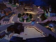 Goof Troop - Spoonerville - Roundabout at Night