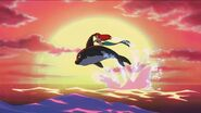 Ariel and Spot jump over the ocean
