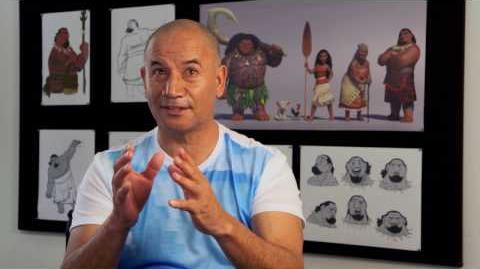"Moana ""Chief Tui"" On Set Interview - Temuera Morrison"