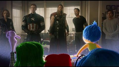 Inside Out Emotional Reaction to Avengers Age of Ultron Trailer