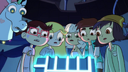 Sleepover-Star and company stare at the Truth Cube