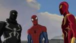 Iron Spider and Spider-Man and Agent Venom