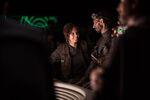 Felicity Jones on the set of Rogue One 4