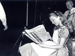 Kathryn Beaumont Reads Newspaper