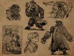 Glen keane treasure planet concepts
