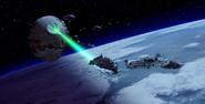 Death Star II in battle
