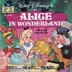 Alice in Wonderland Disney Read Along Record