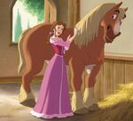 Belle with her horse