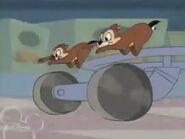 Chip dale running cart wheels