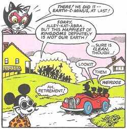 Mickey and Donald in Captain Carrot issue 15