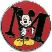 M Mickey Pin