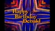 Happy birthday donald