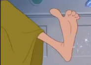 Drizella's big foot