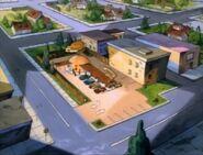 Goof Troop - Behemuth Burger Restaurant - Aerial View - 1