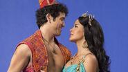 Aladdin and Jasmine on Aladdin the Broadway Musical 1