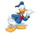 Donald Duck transparent