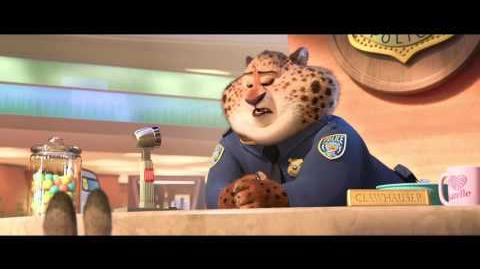 """Meet Clawhauser"" Clip - Zootopia"