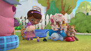 Lambie crashed onto her friends