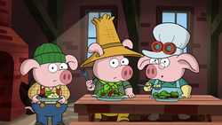 Three Little Pigs in 'The 7D'