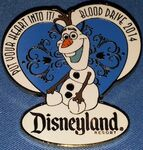 DLR - Cast Member 2014 Blood Drive - Olaf