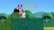 Minnie catches the toy marcher