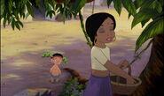 Shanti is telling Ranjan she does like Mowgli