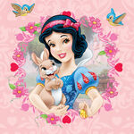 Snow White with bunny