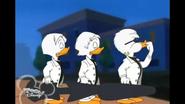 Quackstreet Boys whistling for taxi