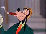 Goofy smoking cigar