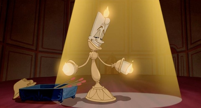 Image result for beauty and the beast lumiere