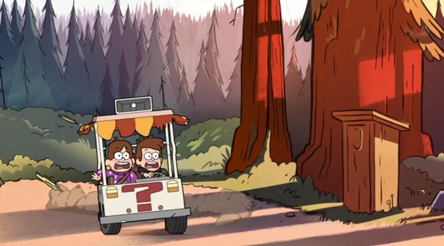 File:Dipper and Mabel using Mystery Cart.png