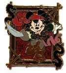 Mickey Jack Sparrow Pin