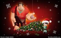 Ralph and Vanellope-ChristmasTree