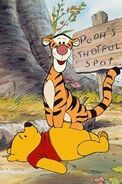 Winnie the Pooh and his friend Tigger too