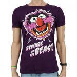 Logoshirt-Animal-BewareOfTheBeast-SlimFitT-Shirt-purple