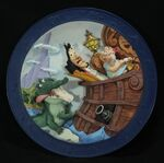 Peter Pan 3-D Plate It's The Croc!