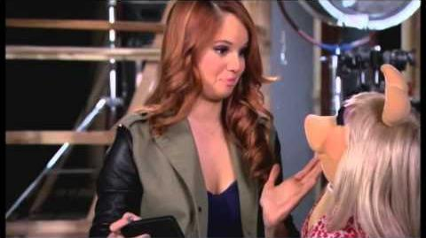 "Debby Ryan filming ""Muppets Most Wanted"""