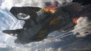 Helicarrier Avengers Concept Art 3